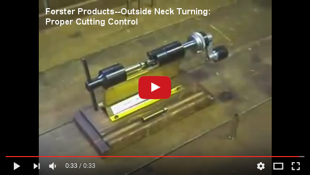 Forster Products--Outside Neck Turning: Proper Cutting Control at YouTube.com