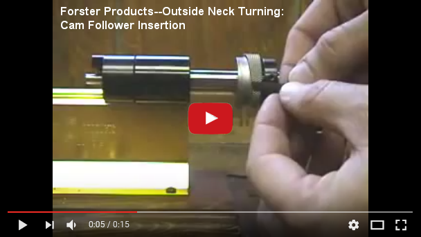 Forster Products--Outside Neck Turning: Cam Follower Insertion at YouTube.com