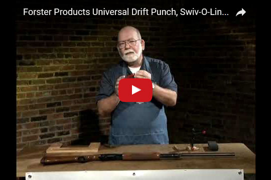 Forster Products Universal Drift Punch, Swiv-O-Ling Vise and Polishing Roll Demonstration at YouTube.com