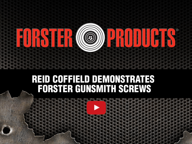 Reid Coffield demonstrates Forster Products Gunsmith Screws at YouTube.com