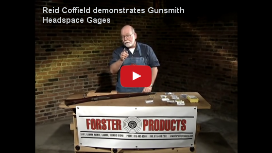Reid Coffield demonstrates Forster Products Gunsmith Headspace Gages at YouTube.com